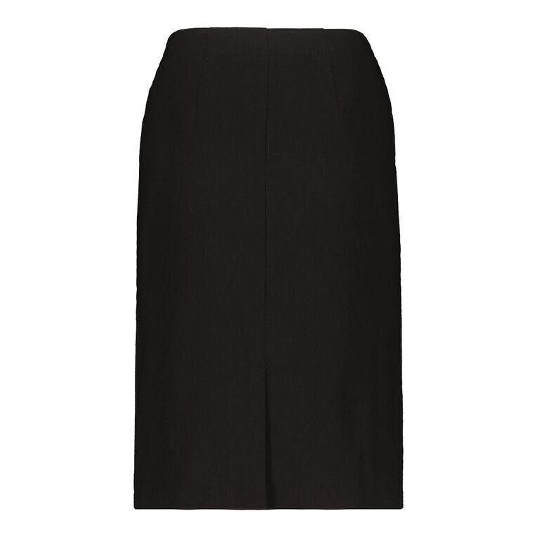 H&H Women's Basic Bengaline Skirt, Black, hi-res image number null