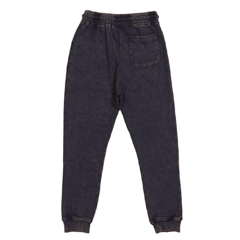 Young Original Acid Wash Trackpants, Navy, hi-res