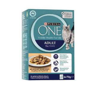 Purina ONE Cat Adult Formula with Chicken MP (6x70g)