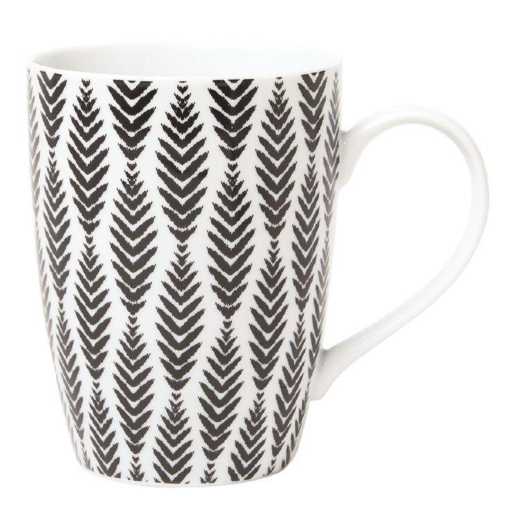 Living & Co Printed Mug Aztec Black/White, , hi-res