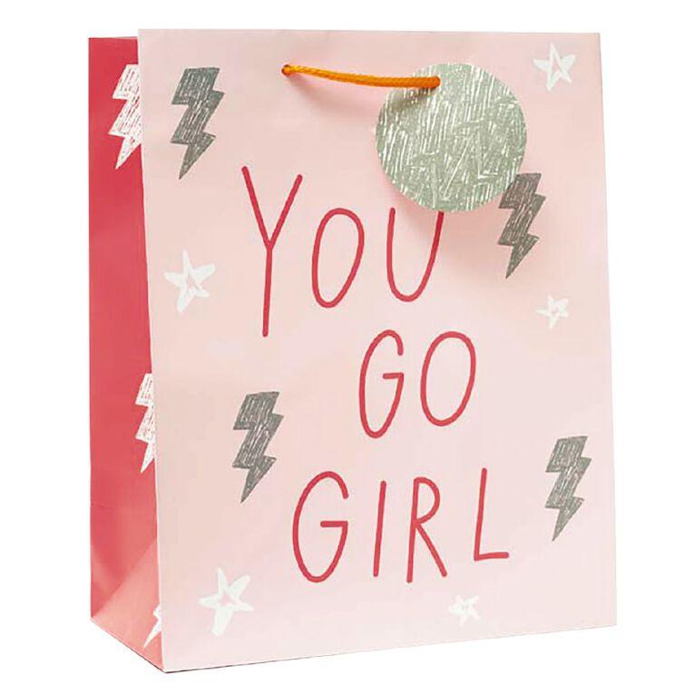 John Sands Juvenile Gift Bag Girl You Go Girl Large, , hi-res