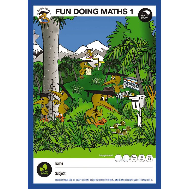 Clever Kiwi Fun Doing Maths Book 1 up to Year 4, , hi-res