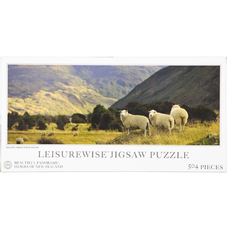 Leisurewise Panoramic New Zealand Puzzles 504 Piece Exclusive Assorted, , hi-res