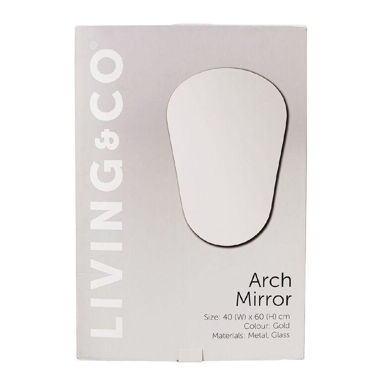 Living & Co Arch Mirror Gold 60cm x 40cm, , hi-res