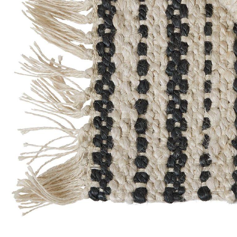 Living & Co Jute Scatter Rug With Fringe Natural 60cm x 90cm, Natural, hi-res