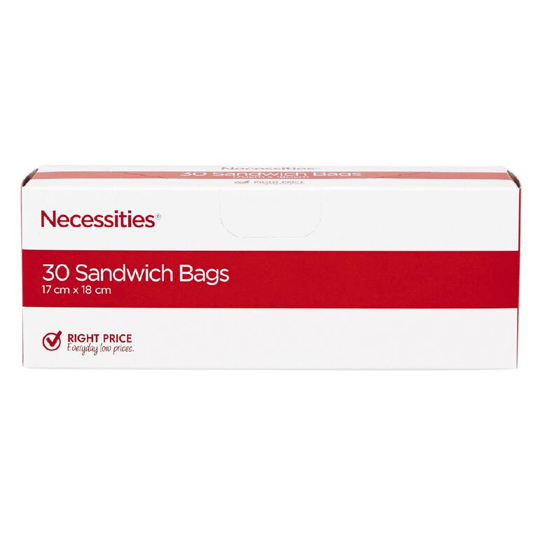 Necessities Brand Sandwich Bags 30 Pack, , hi-res