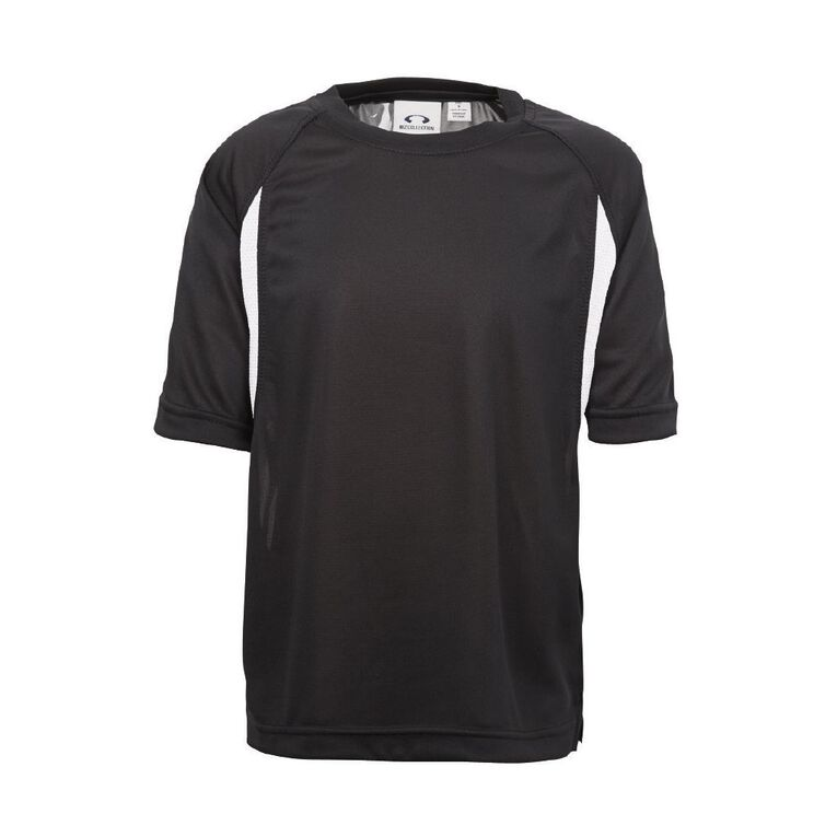 Schooltex St Joseph's Te Kuiti Sports Top, Black/White, hi-res