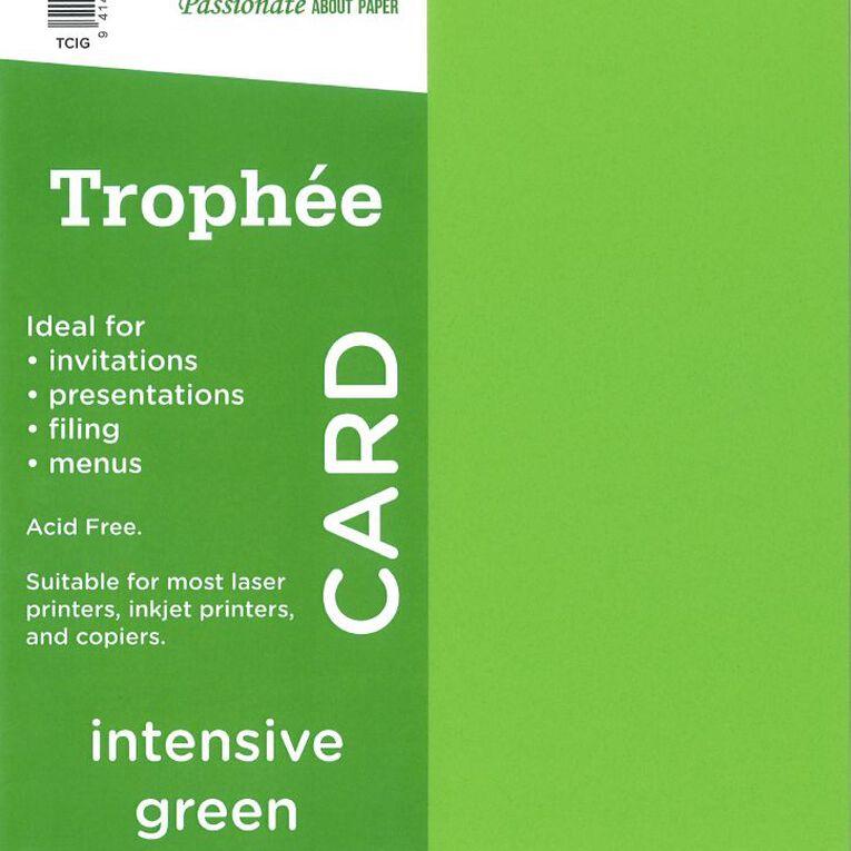 Trophee Card 160gsm 15 Pack Intensive Green A4, , hi-res