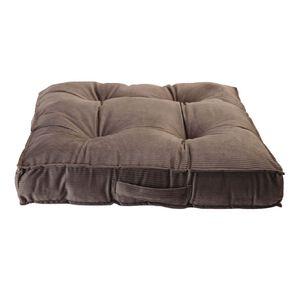 Living & Co Velvet Stripe Floor Cushion Charcoal 60cm x 60cm