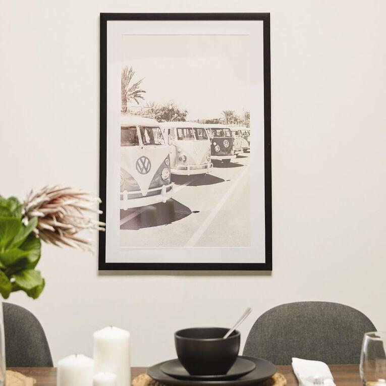 Living & Co Vintage Campervans Framed Print 50 x 70 x 2.3cm, , hi-res