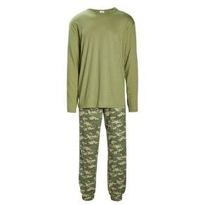 H&H Men's Knit Fleece Pyjama Set
