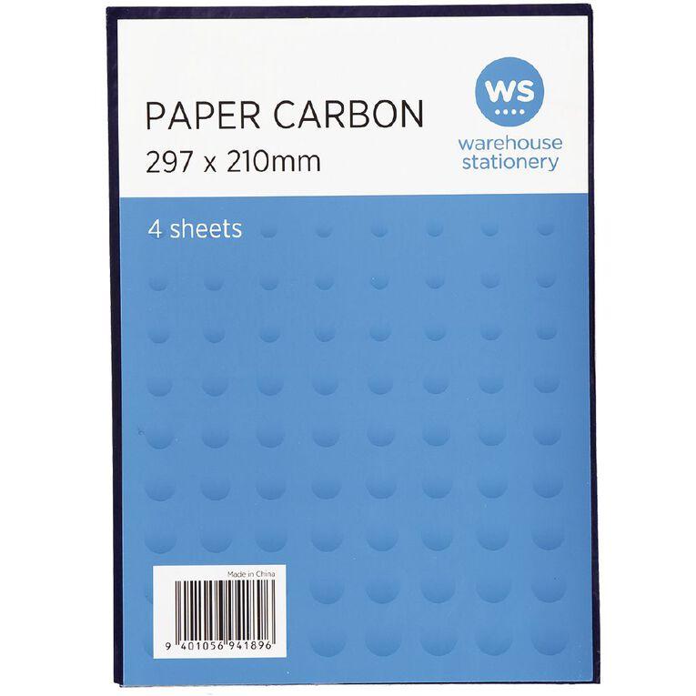 WS Paper Carbon 4 Sheets Blue A4, , hi-res
