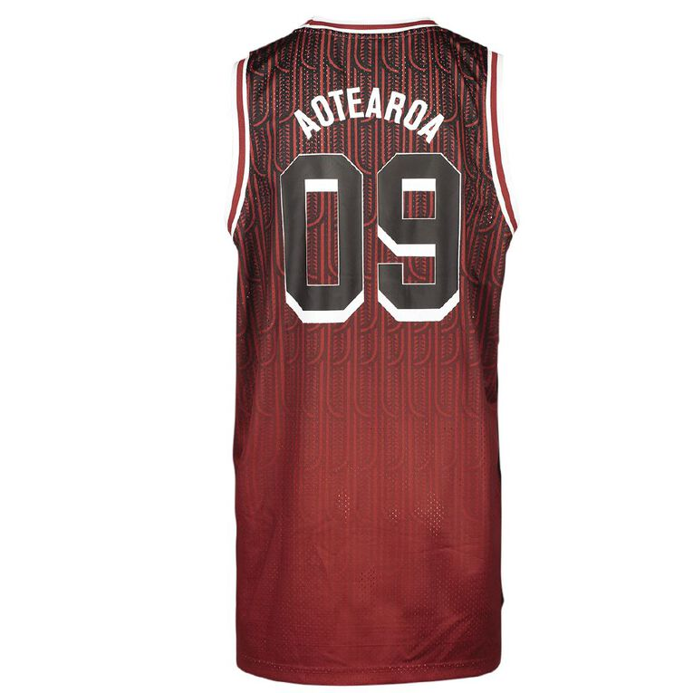 Active Intent Men's Supporter Basketball Singlet Tee, Red Dark, hi-res