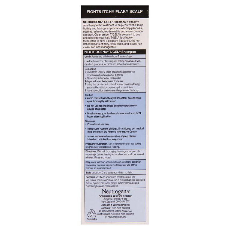 Neutrogena Therapeutic T-Gel Shampoo 200ml, , hi-res