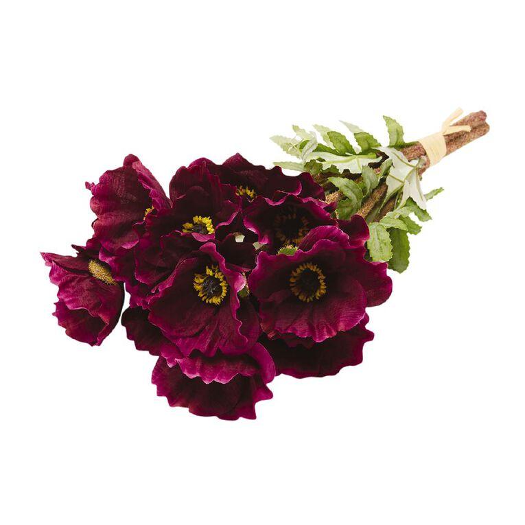 Living & Co Artificial Wild Flower Bunch Purple 38cm, , hi-res