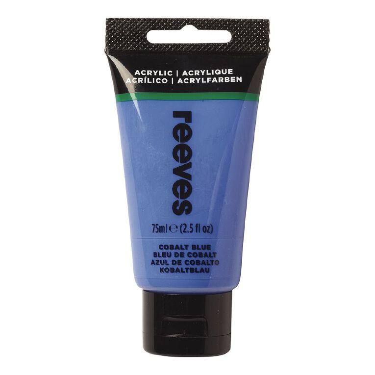 Reeves Fine Acrylic 75ml Cobalt Blue 370 75ml, , hi-res
