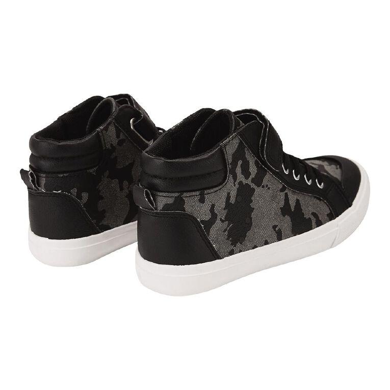 Young Original Kids' Hi Canvas Camo Shoes, Black, hi-res