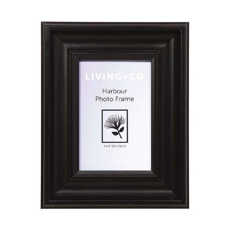 Living & Co Harbour Frame Black 4in x 6in, , hi-res image number null