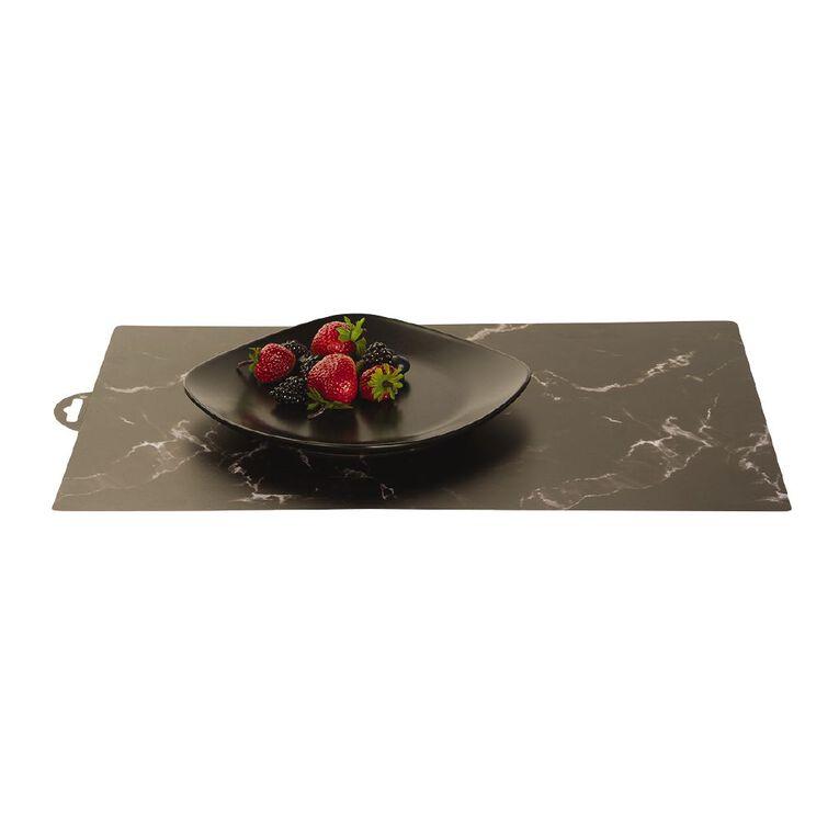 Living & Co Black Marble Placemat 30cm x 45cm, , hi-res