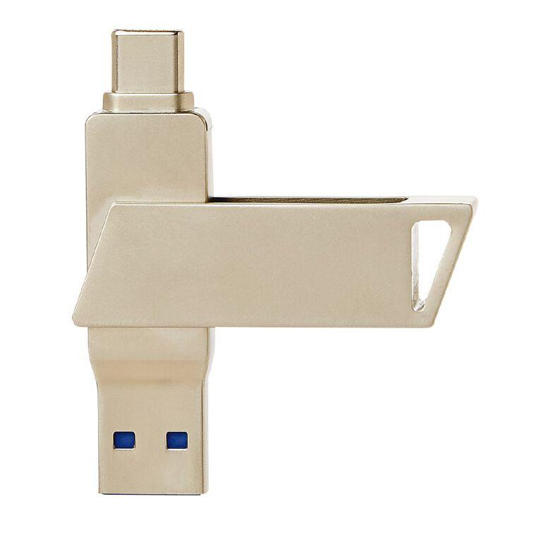 Tech.Inc 64GB USB-A and USB-C Swivel Flash Drive, , hi-res