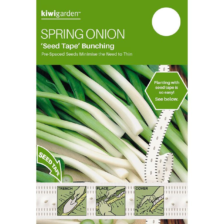 Kiwi Garden Seed Tape Spring Bunching Onion, , hi-res