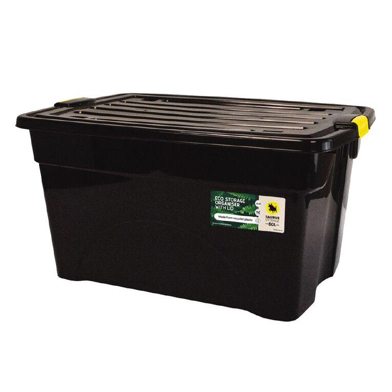 Taurus Recycled Rolling Organiser Black 60L, , hi-res