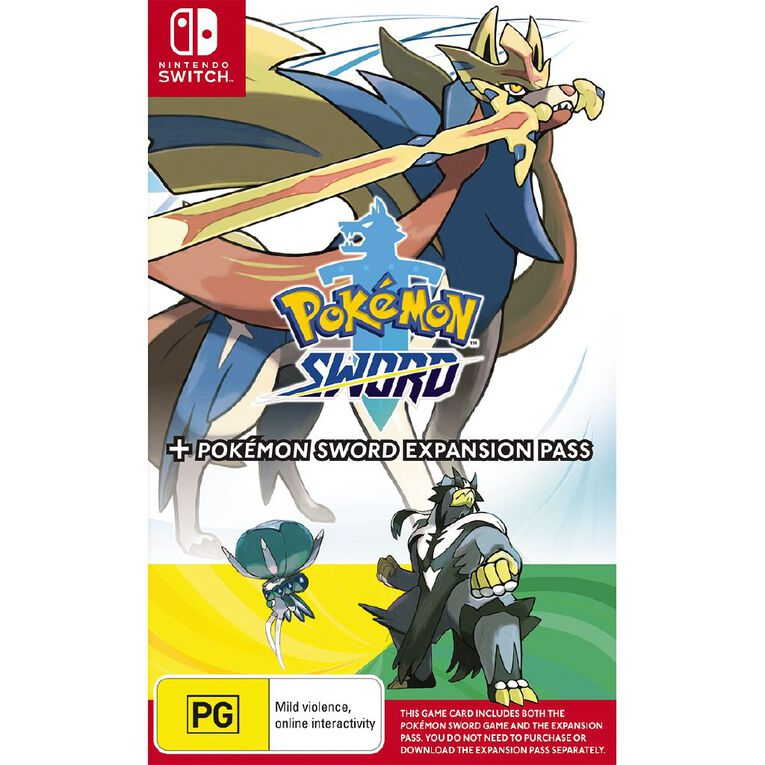 Nintendo Switch Pokemon Sword and Pokemon Sword Expansion Pass, , hi-res