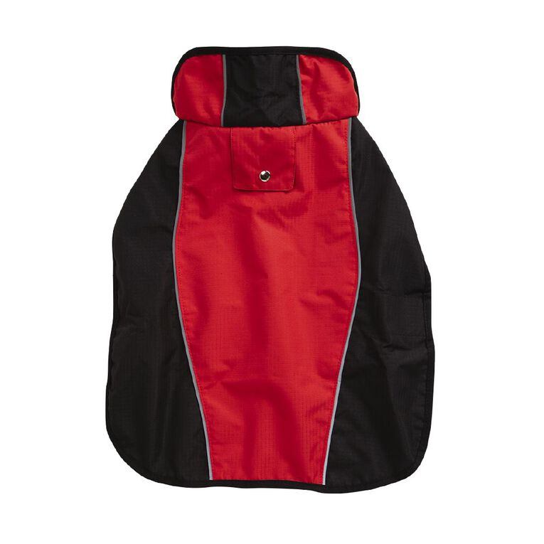 Simply Dog Red & Black Waterproof Wrap Jacket Large, , hi-res