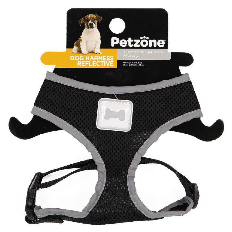 Petzone Reflective Mesh Harness Black Small, , hi-res
