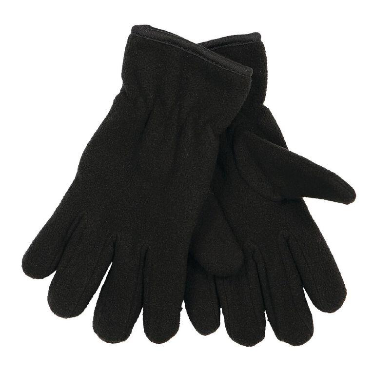 Young Original Kids' Fleece Gloves, Black, hi-res