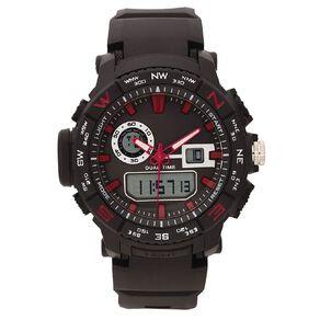 Active Intent Men's Sports Ana-Digital Watch Black/Red