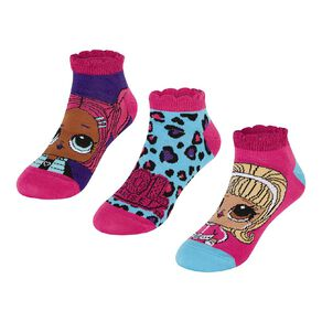 LOL Surprise Girls' Liner Socks 3 Pack