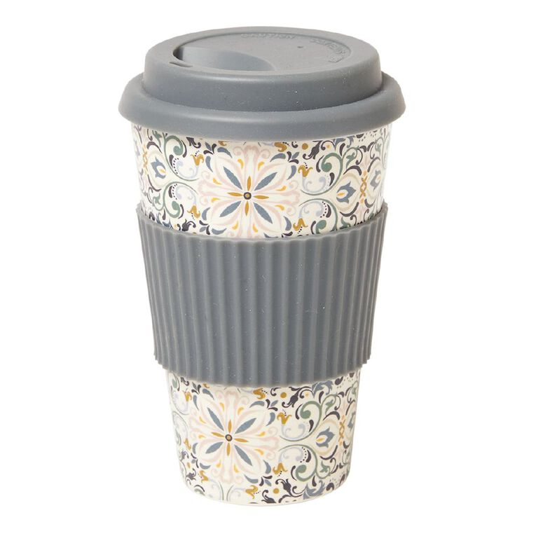 Living & Co Bamboo Travel Cup Moroccan 500ml, , hi-res