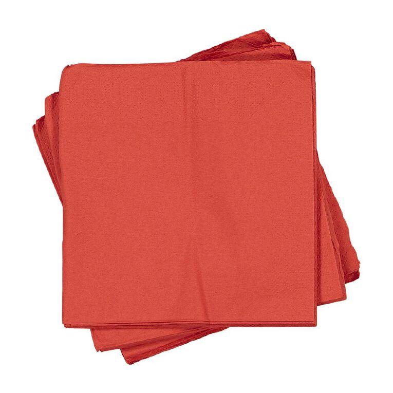 Party Inc Napkins 30cm Red 50 Pack, , hi-res