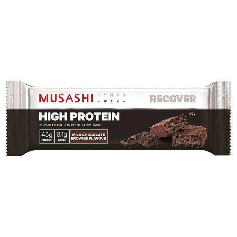 Musashi Musashi P 45 High Protein Bar-Milk Choc Brownie 90g, , hi-res