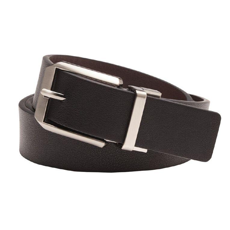 H&H Men's PU Rev Belt, Black, hi-res
