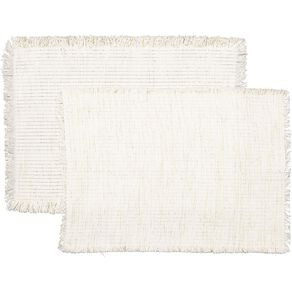 Living & Co Boho Placemat Gold & Silver Yarn 33cm x 48cm