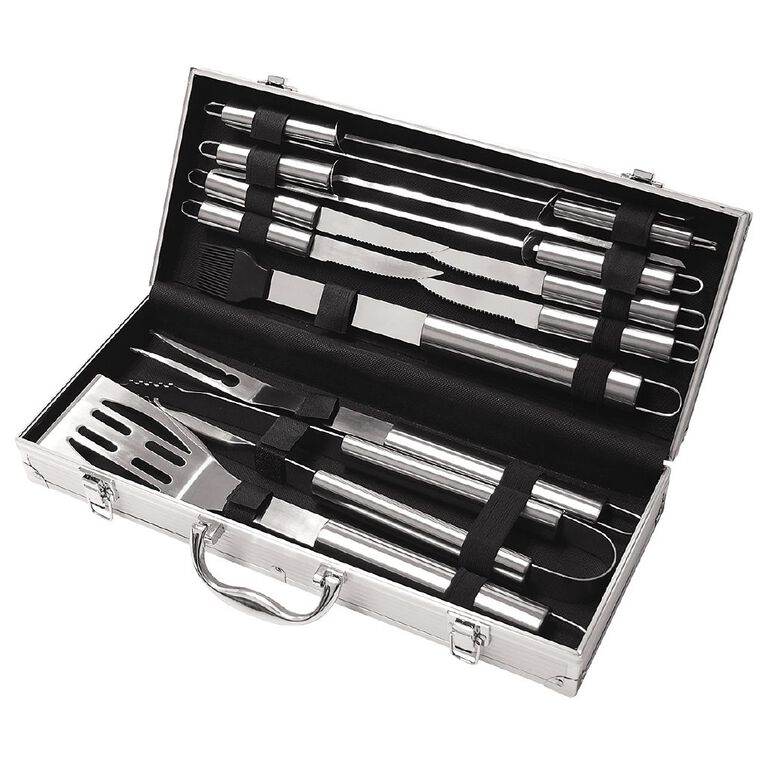 Gascraft BBQ Deluxe Stainless Steel Set 12 Piece, , hi-res