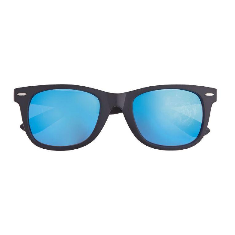 Beach Works Unisex Mirror Sunglasses, Black/Green, hi-res