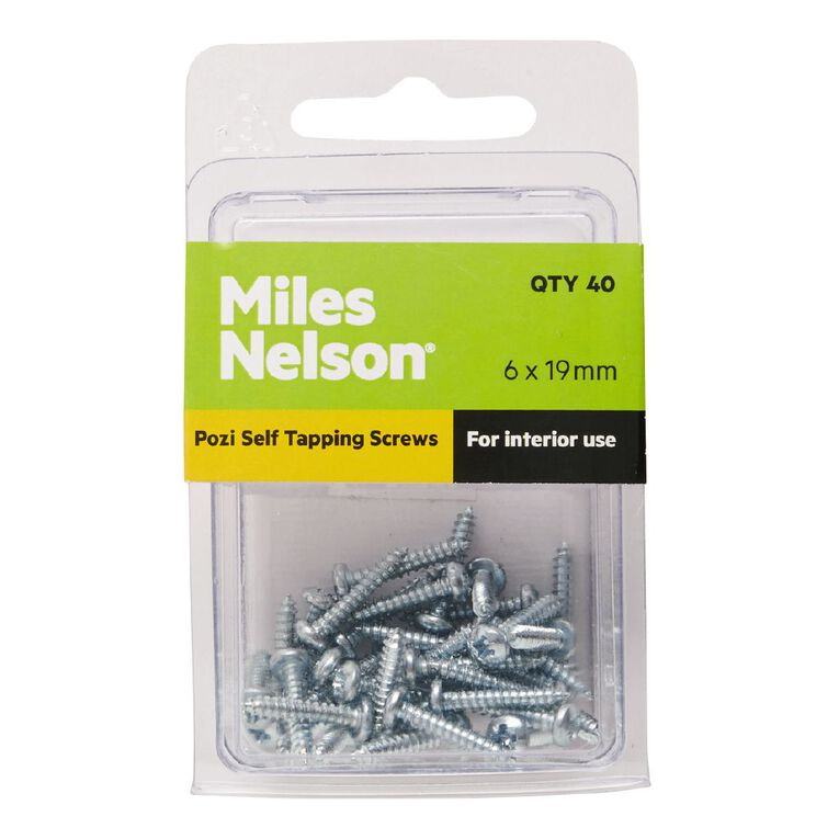 Miles Nelson Self Tapping Screws 6mm x 19mm, , hi-res