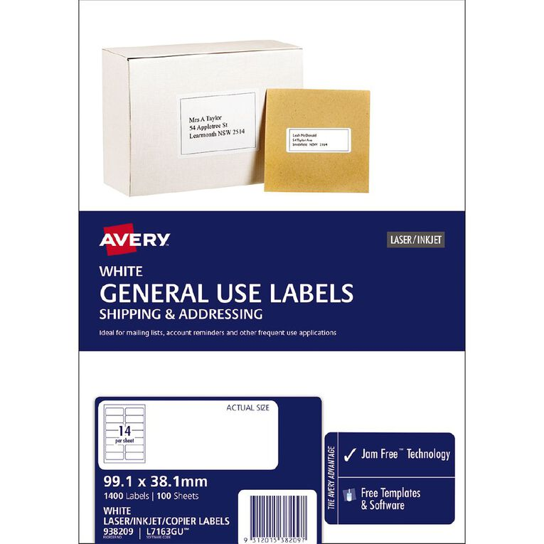 Avery Labels 7163 Gu, , hi-res