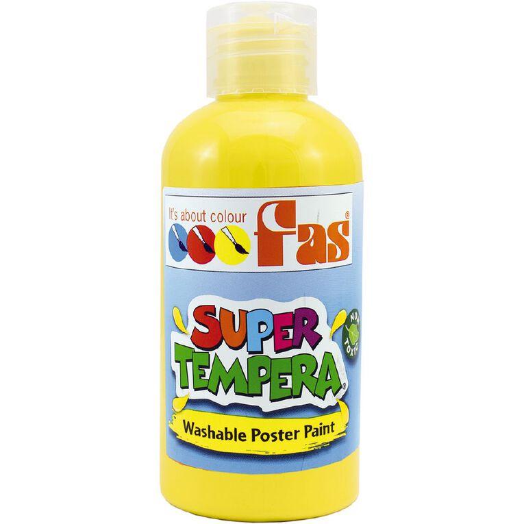 FAS Paint Super Tempera 250ml Yellow, , hi-res