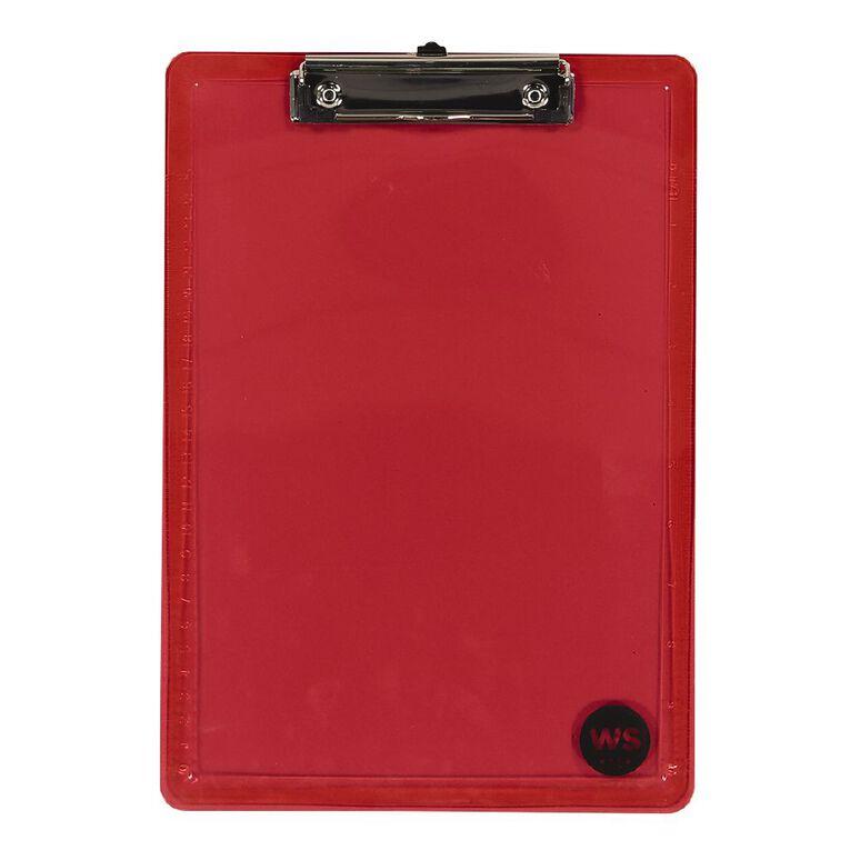 WS Clipboard Red A4, , hi-res