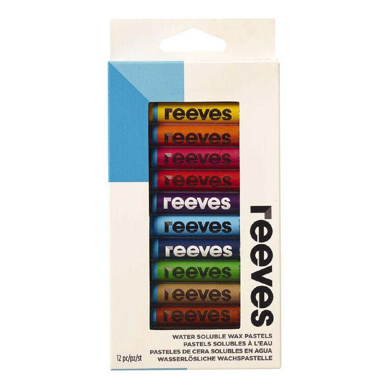Reeves Water Soluble Wax Pastels 12 Pack, , hi-res