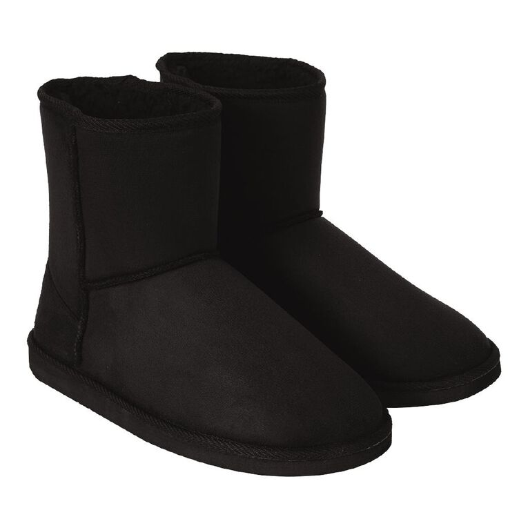 H&H Women's Thunder Slipper Boots, Black, hi-res image number null