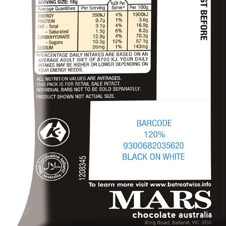 Mars Chocolate Party Share Bag 12 piece 216g 12 Pack, , hi-res