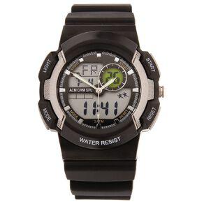 Active Intent Men's Sports Digital Watch Black Grey
