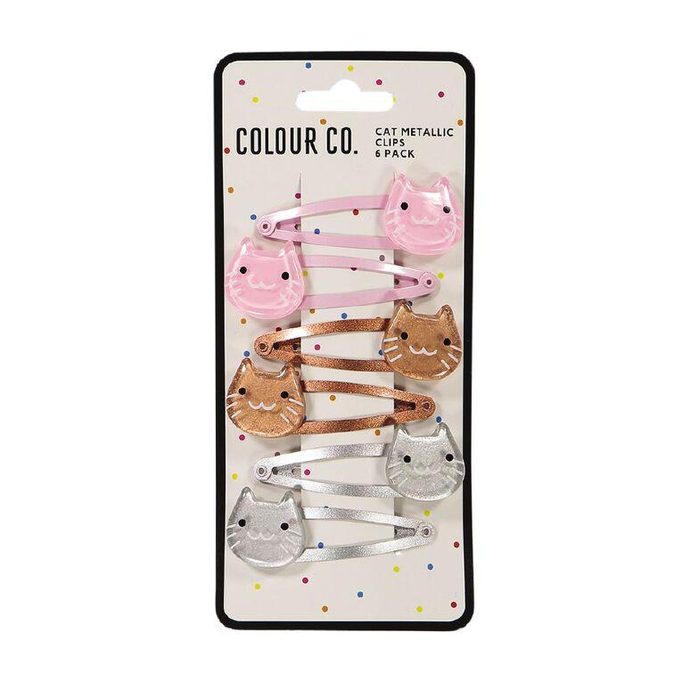 Colour Co. Cat Metallic Clips 6 Pack, , hi-res