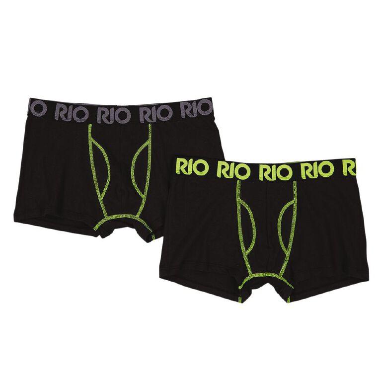 Rio Men's Trunks 2 Pack, Black/Yellow, hi-res
