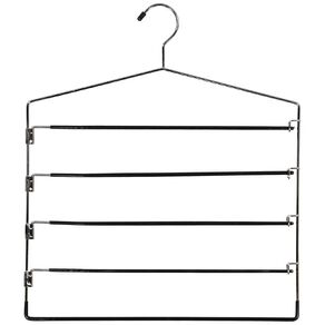 Living & Co Pant Hanger Silver 4 Tier
